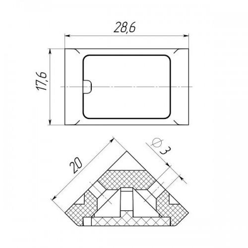 Уголок мебельный одинарный (200 шт в упаковке)-0