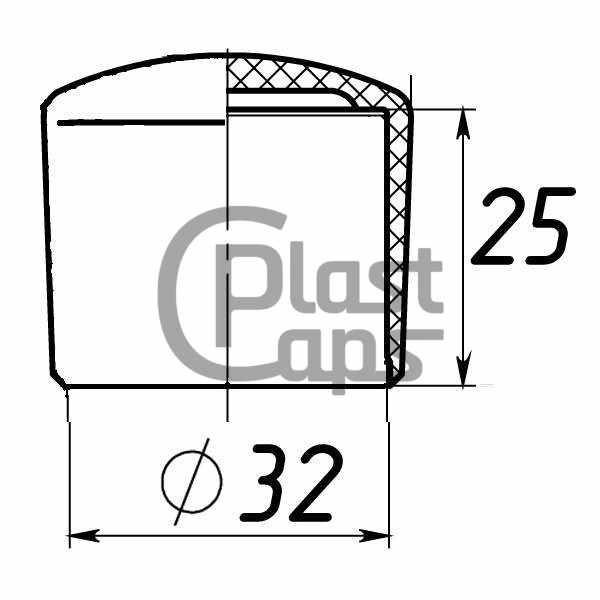 Заглушки круглые наружные 32 мм-0