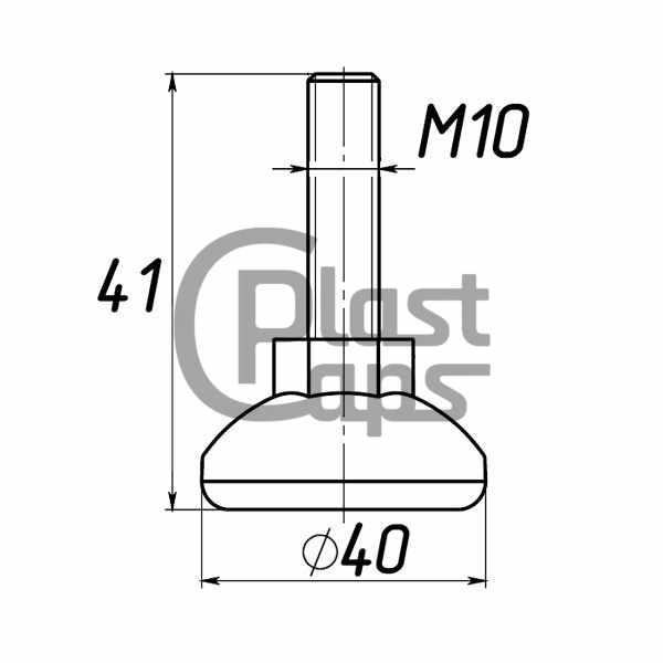 Регулируемая опора М10 D40M10L41-0