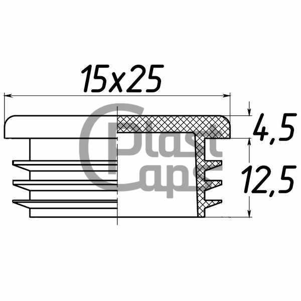Заглушка прямоугольная 15х25-0